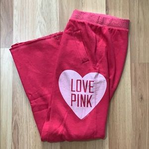 PINK boyfriend sweatpants